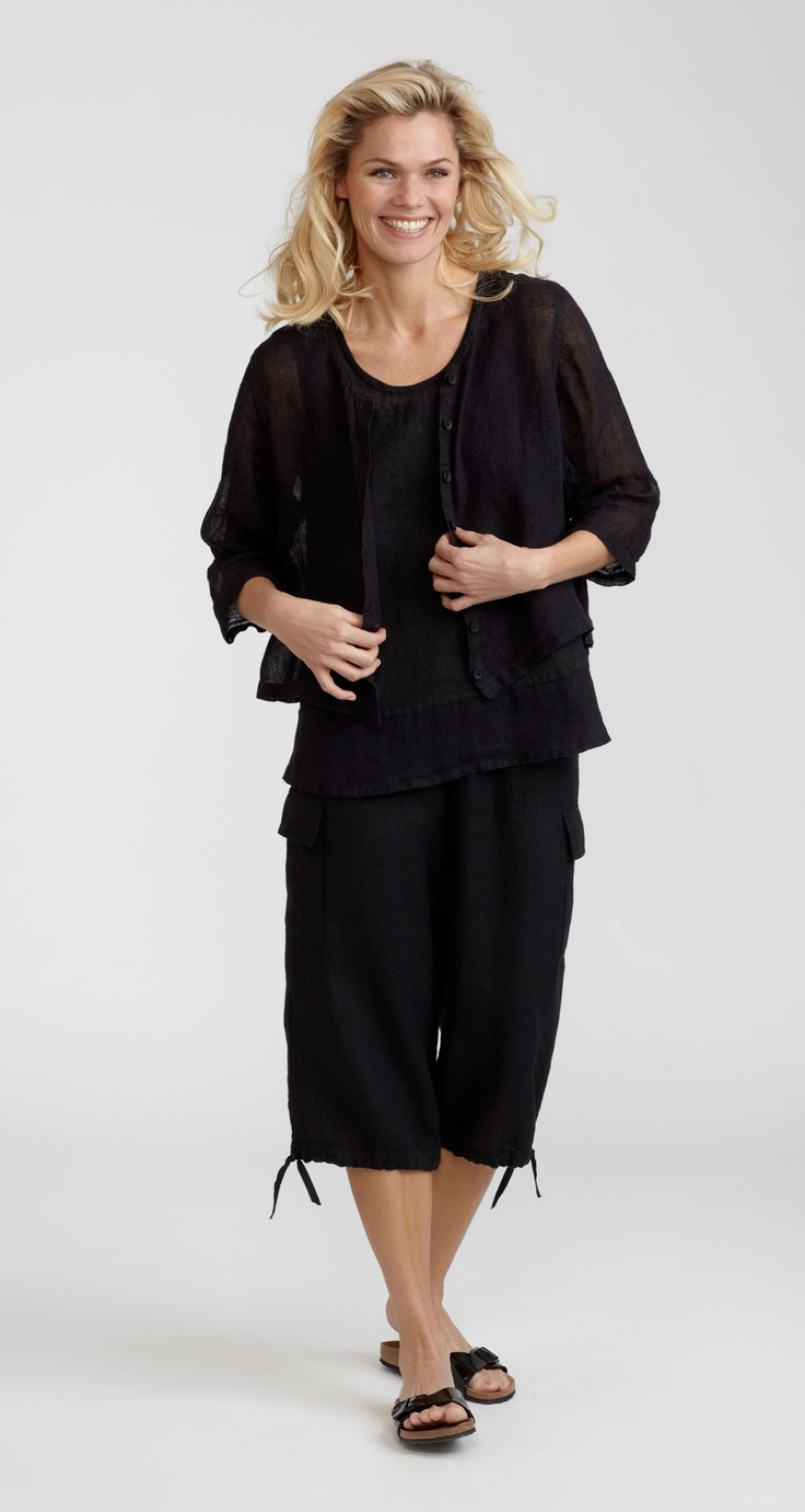 Have you seen the New Flax Plus Size Cropped Cargo Pant Elastic Waist