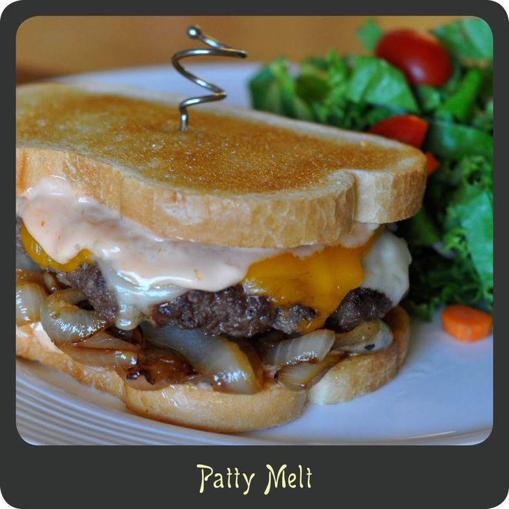 Recipe—Patty Melt | MMMMM Food to try! | Pinterest