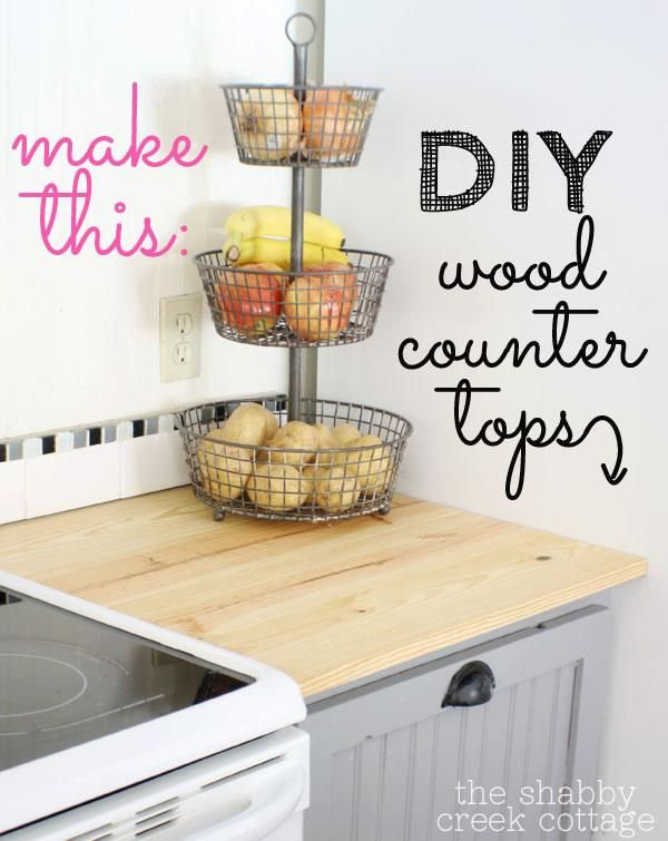 diy butcher block wood countertops