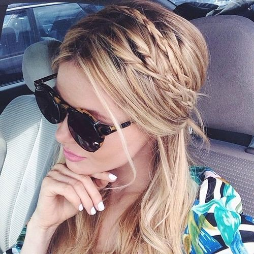 Messy pulled back hair with braids fab hair pinterest