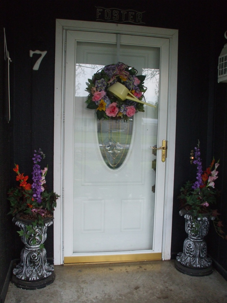 MY FRONT DOOR IS READY FOR SPRING ALSO!!!! VERY EASY TO MAKE AS WELL!