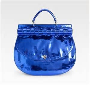 Versace Metalic Blue Handbag