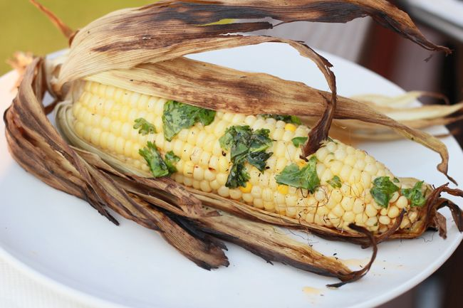 Grilled Corn with Smoky Lime Butter | a side . V E G | Pinterest