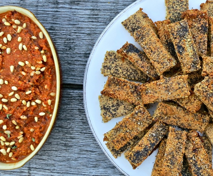 Nut and poppyseed crackers: gluten and dairy free | s n a c k s ...
