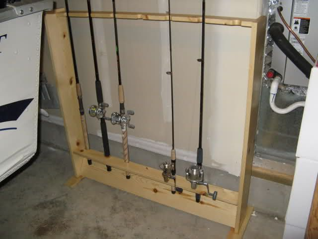 Pin by shonda wentz king on 4h ideas pinterest for Diy fishing pole rack