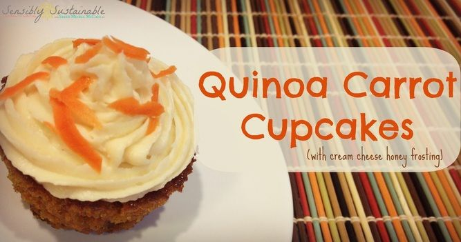 Quinoa Carrot Cupcakes with a Cream Cheese Honey Frosting #carrotcake ...