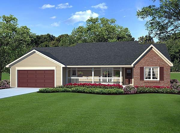 Country ranch traditional house plan 20083 for Traditional ranch homes