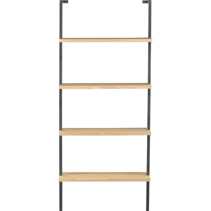 Tesso 84 quot wall mounted bookcase