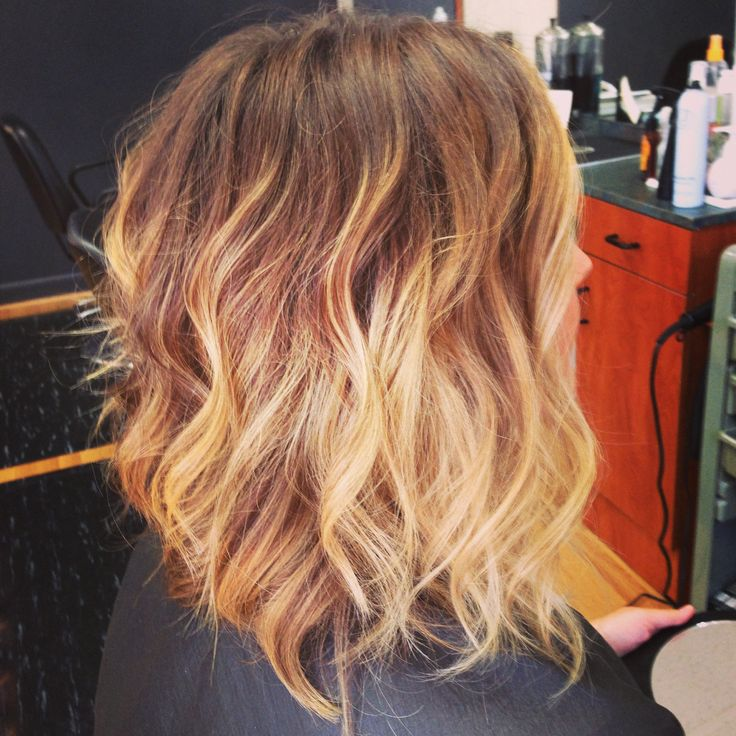 Shoulder Length Hairstyles With Ombre : Shoulder length ombre rad hair colour