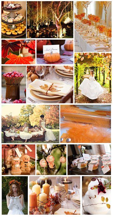 Thème de mariage : L'automne