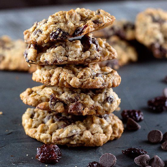 ... cookies studded with dark chocolate chips and tart vanilla soaked