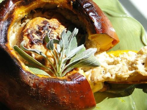 cheesy baked pumpkin fondue~   Adventures With Pumpkin   Pinterest