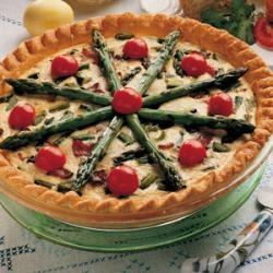 Asparagus and Swiss Cheese Quiche | Recipe