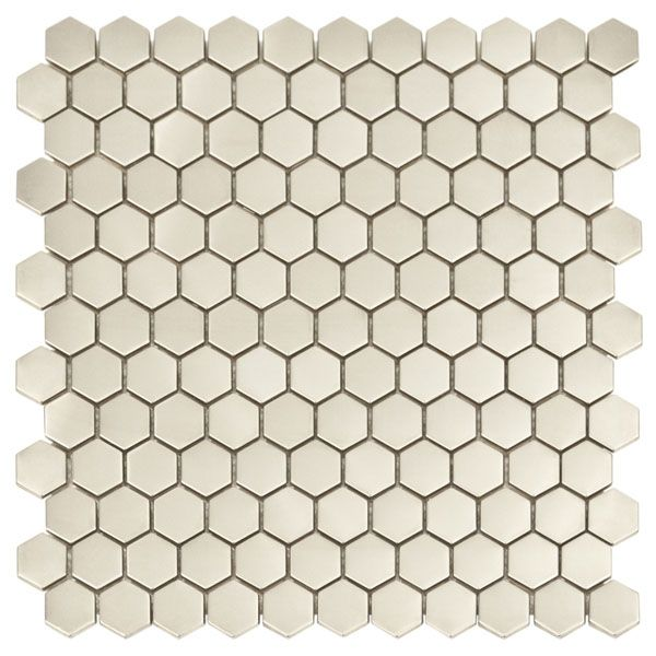 accent for range backsplash honeycomb silver mosaic metal tile