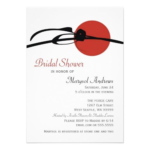 Sensual asian bridal invitation shower