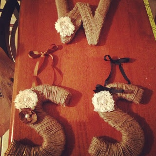 DIY Jute wrapped letters