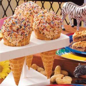 Ice Cream Cone Rice Crispy Treats- a less messy way to enjoy rice ...
