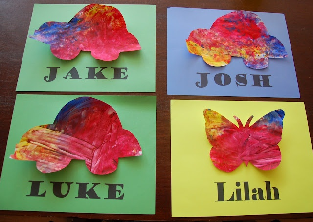 Finger Paint You'll Want to Frame! (Cut it out AFTER)