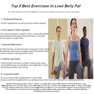 Top 5 Best Exercises to Lose Belly Fat | weight loss diet tips | Pint ...