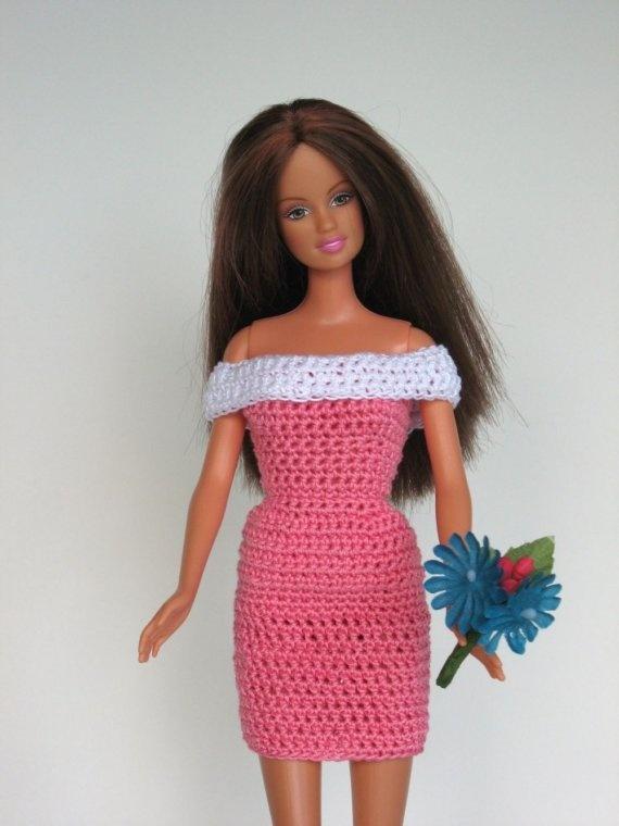 Barbie Dress crochet doll clothes Pinterest