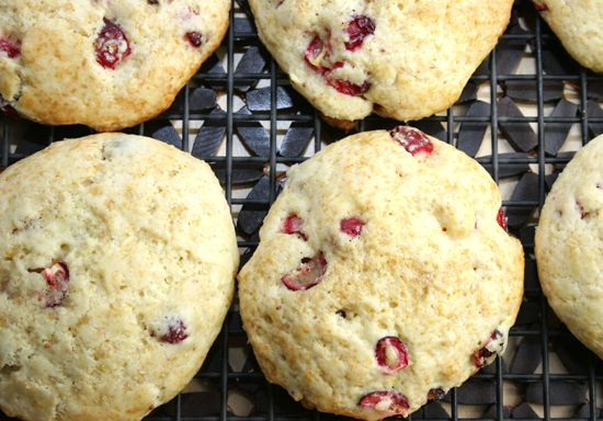 Meyer Lemon and Fresh Cranberry scones. I bought a bag of beautiful ...