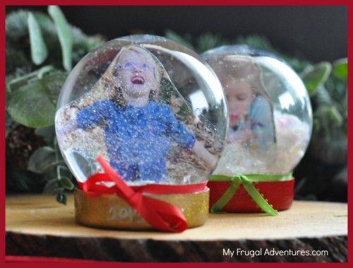 Diy snow globes easy children 39 s christmas craft for Easy homemade christmas snow globes