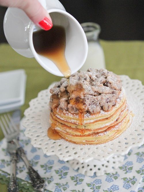 "Chocolate Chip Pan ""Cakes"" with Cookie Dough Crumble - Picky Palate"