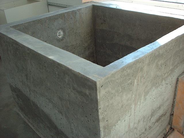 concrete tub diy diy concrete projects pinterest