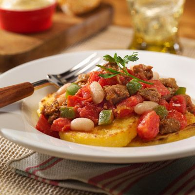 Italian Sausage and Bean Stew with Polenta | Recipe