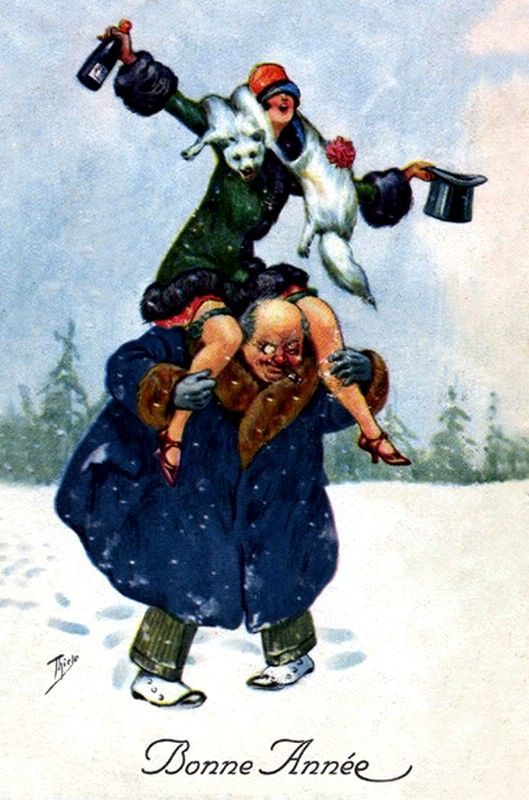 Old New Year Post Card —   (529x800)
