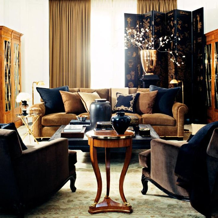 Ralph lauren home rue royale collection 18 living room for Jamaican living room designs