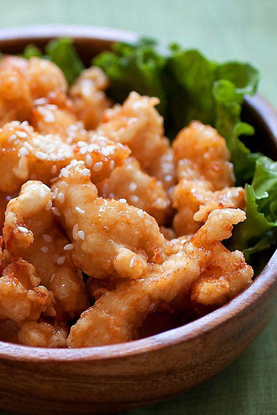 Sesame Chicken - Best ever honey sesame chicken with fried chicken ...