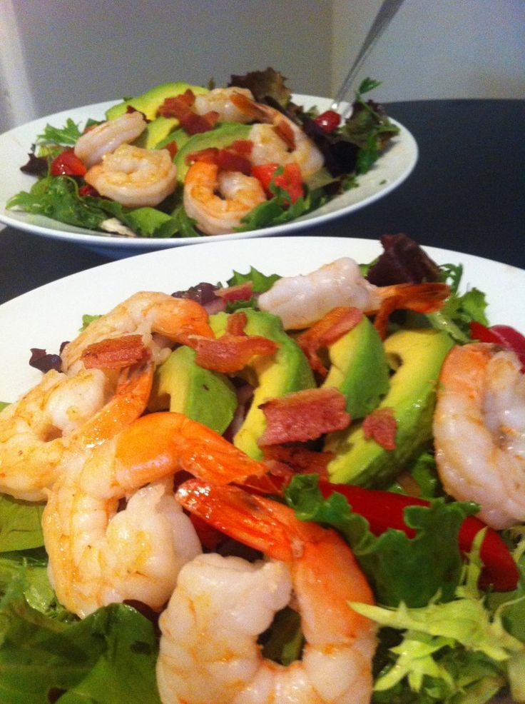 BLAST Salad - Bacon Lettuce Avocado Shrimp and Tomato Salad. My new ...