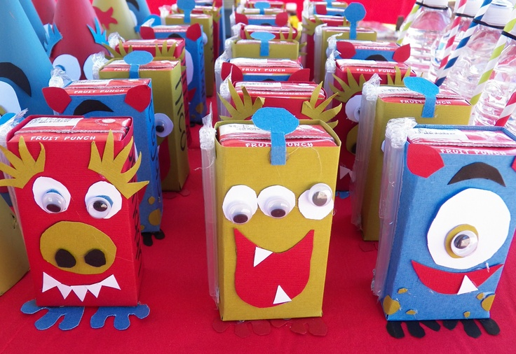 monster juice boxes | parties: my kids' birthday parties | Pinterest