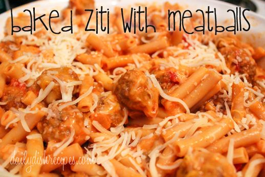 Baked Ziti with Meatballs | Easy, Cheesy & Delicious