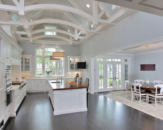 Pin by ruta degesys on kitchen ideas pinterest for Cathedral ceiling kitchen designs