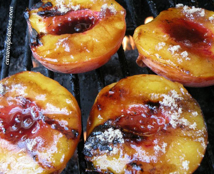 Grilled Peaches - I love mine with balsamic glaze and honey infused ...