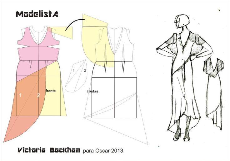 Vestido Victória Beckham. Oscar 2013