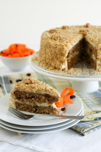 "Healthy Carrot Cake and Cream Cheese Mousse, ""but just say 'NO!'..."