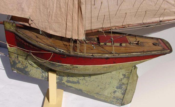 Voilier de bassin cotre 19 pond yacht pinterest - Voilier de bassin ancien nanterre ...