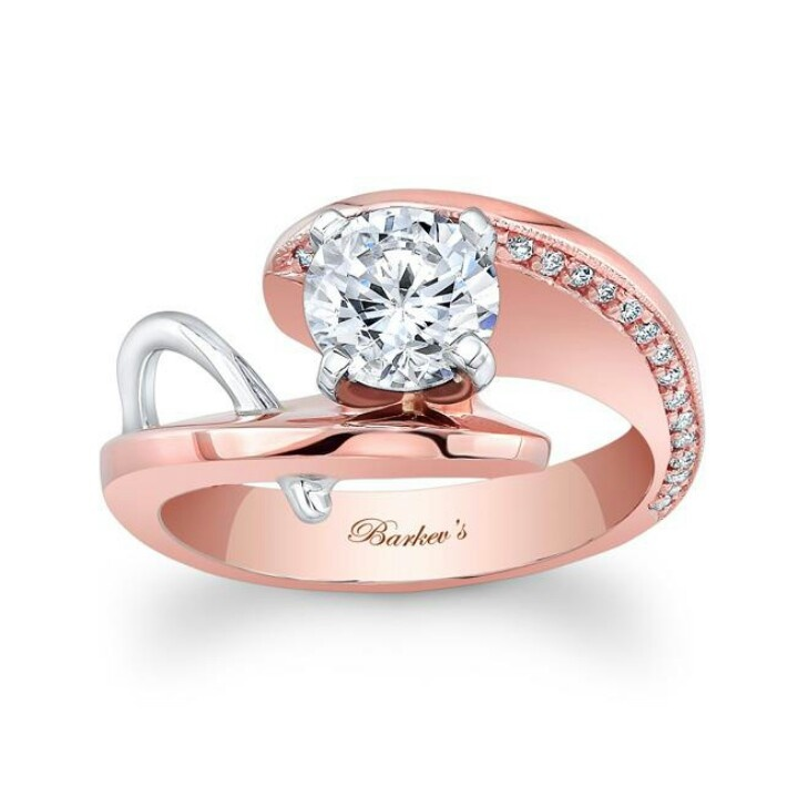 Amazoncom Sterling Silver and 14k Rose Gold Diamond