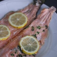 Whole Roasted Trout With Lemon And Thyme (via www.foodily.com/r ...