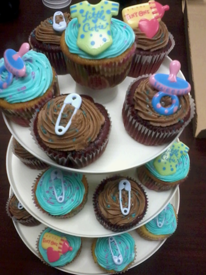 Baby Boy Shower Cupcakes Pinterest