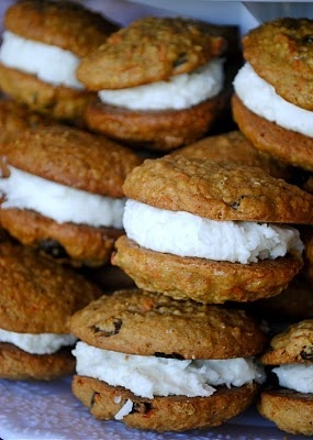 Carrot Cake Whoopie Pies with Coconut Cream Cheese Frosting.. HOLY YUM ...