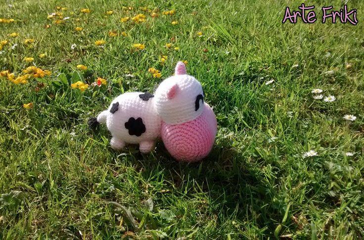 Tutorial Amigurumi Vaca : Vaca Amigurumi Amigurumis Arte Friki Pinterest