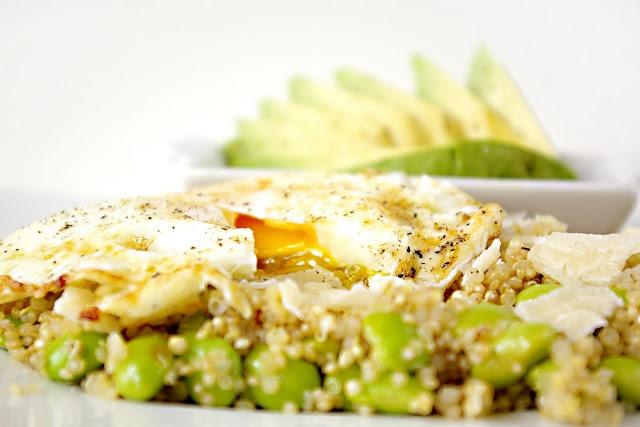egg, quinoa, edamame, avocado | foods | Pinterest