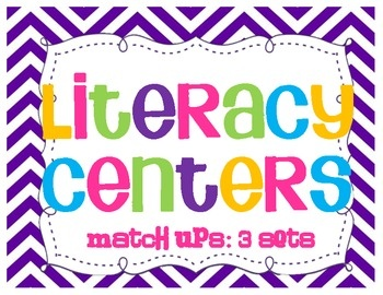 These are quick, ready made literacy centers!  Simply print & go!!