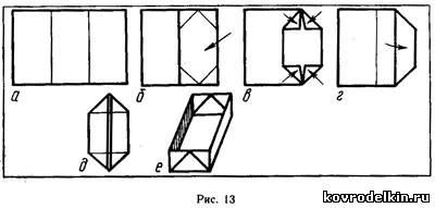 Прямоугольная коробочка из бумаги своими руками