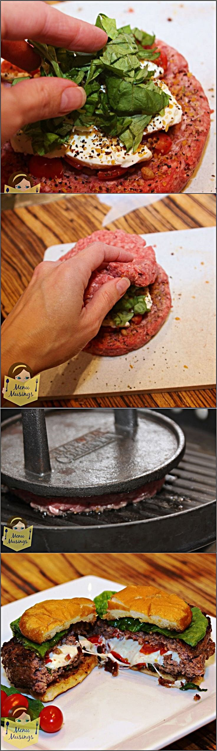 Stuffed Burgers - some of my favorite things stuffed and grilled ...