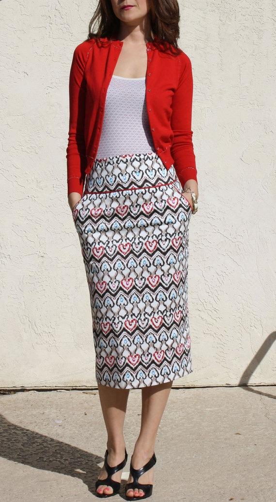 High waisted pencil skirt kim